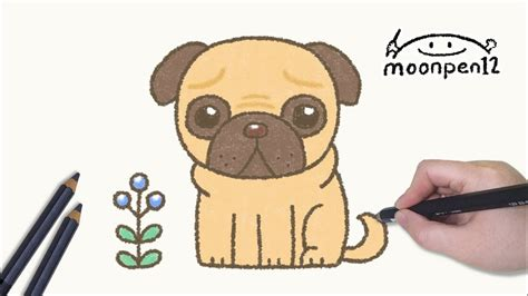 how to draw pugs step by step how to draw a pug easy step by step