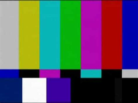 test pattern noise technical difficulties scott chapin with color bars