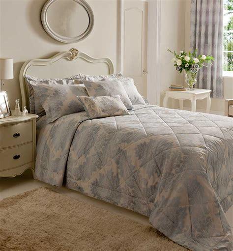 Satin Bedspreads Blue Jacquard Faux Silk Satin Bedding Duvet Set Or