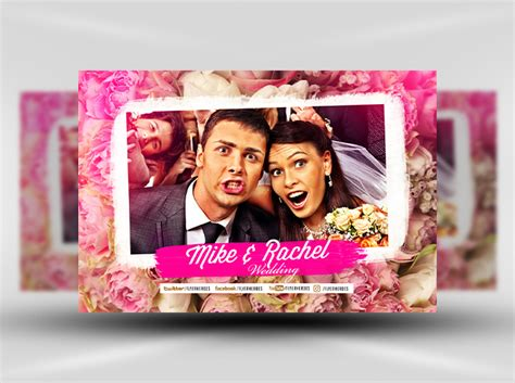 photo booth template psd wedding photobooth design template flyerheroes