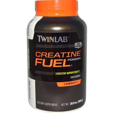 creatine p l u s twinlab creatine fuel powder unflavored 5 g 10 6 oz