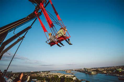 swing amsterdam europe s highest swing open to public ecsite