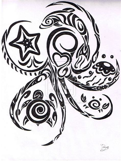 tribal sea tattoos starfish tattoos starfish tattoos ideas