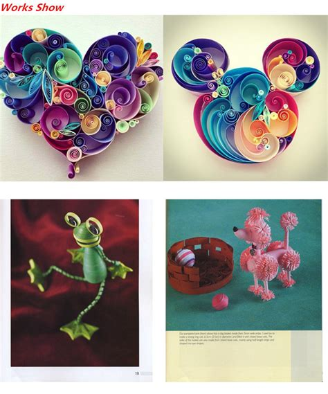 origami paper quilling 1 set diy quilling tool origami template paper pen mould