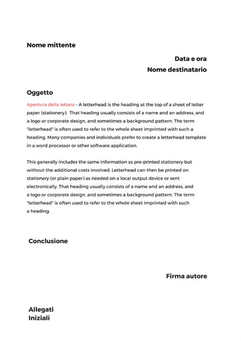lettere informali scrivere una lettera formale come si struttura una
