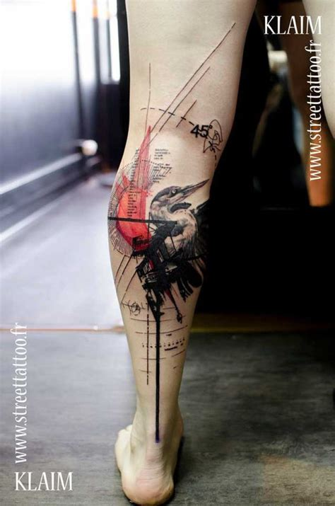 graphic design tattoo graphic design on leg ink on your skin