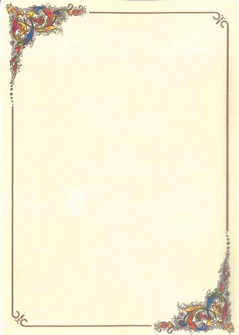 cornici per pergamena carta pergamena tema a cornice 2 motivi conf 2 fogli