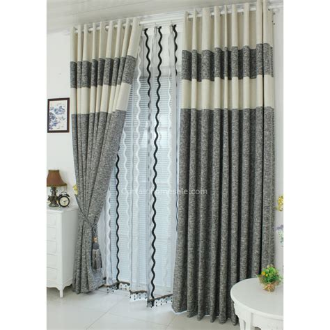 Healthy Cotton And Linen Living Room Colorful Window Curtains