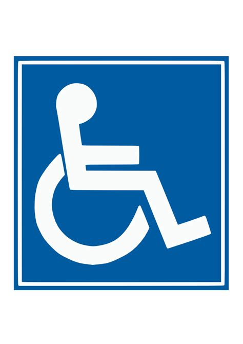 handicap template onlinelabels clip handicap sign