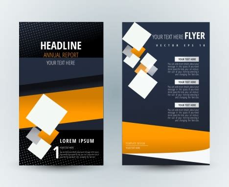 design poster square flyer template design with modern background and squares