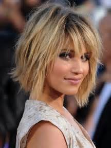 dianna agron bob hairstyles with bangs