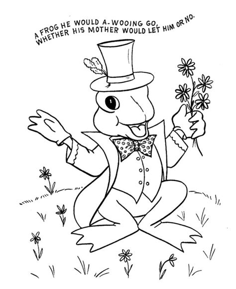 nursery rhyme coloring page hand embroidery children s