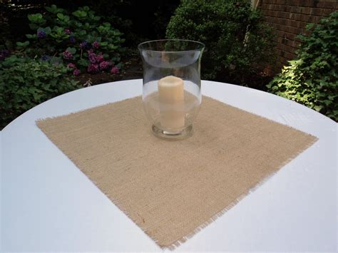 burlap table toppers burlap table squares finished and sewn burlap table topper