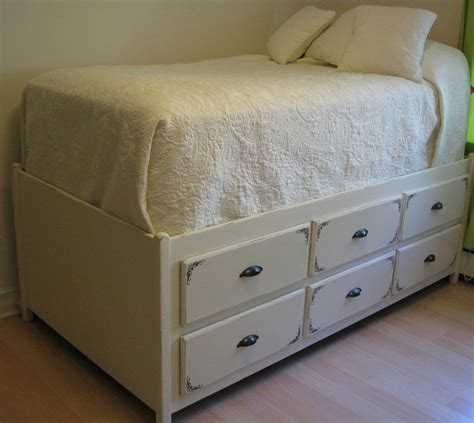 Bed Dressers by Reusing That Dresser Bed Frame Storage