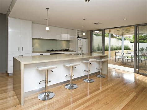 Kitchen Layouts With Island Modern Island Kitchen Design Using Floorboards Kitchen Photo 433840