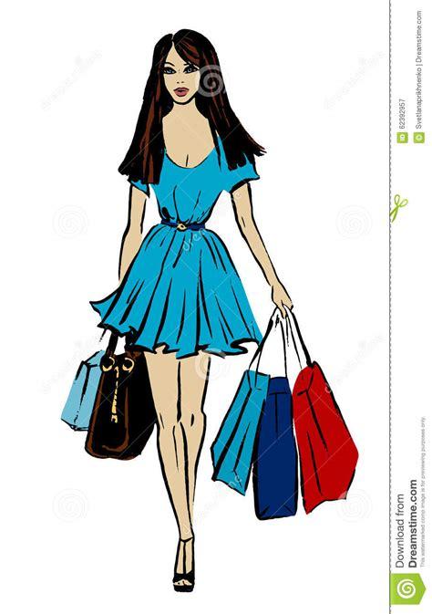 Bag Fashion Atr with shopping bag stock vector image 62392957