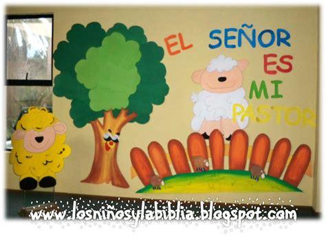 decoracion salon de clases escuela biblica los ni 241 os y la biblia mural salmo 23