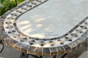 Mosaic Top Patio Table Outdoor Dining Table Oval Marble Mosaic Garden Patio Table