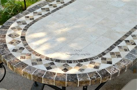 table jardin mosaique outdoor dining table oval marble mosaic garden patio table 71 quot ovali arts crafts patio