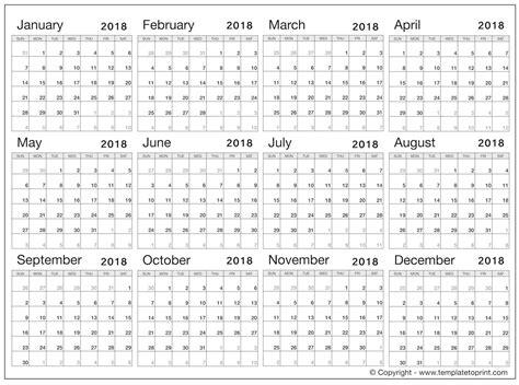 calendar 2018 template pdf 2018 blank calendar pdf calendar template free