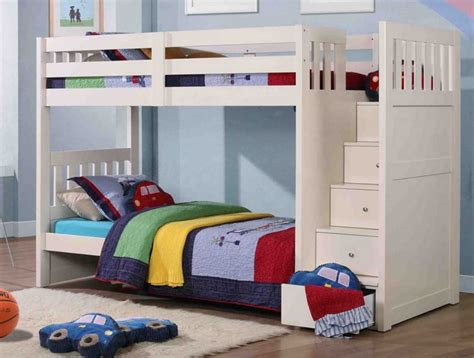 Boys Bunk Bed Ideas White Bunk Beds Boys With Stairs Home Design