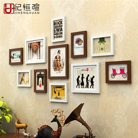 home decor photo frames cheap 11 pieces set wood picture frames set modern art