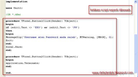 membuat form login delphi dengan database access trik trik membuat form login user dengan borland delphi 7