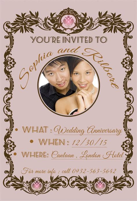 Wedding Anniversary Invitation Cards by 69 Sle Invitation Cards Free Premium Templates