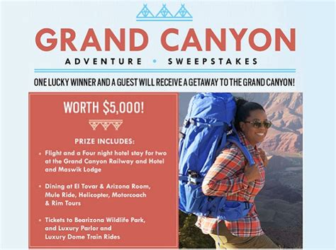 Oprah Magazine Sweepstakes - oprah magazine grand canyon adventure sweepstakes sweepstakesbible