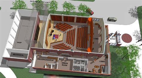 Construction Plans Online by Dedicated Theatre Building Concept Doane University