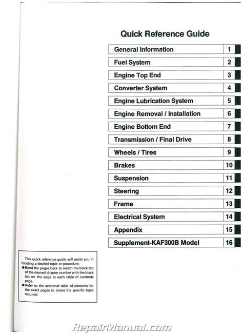 Kawasaki Mule 550 Manual by Kawasaki Mule Kaf620 Wiring Diagram Kawasaki Free Wiring