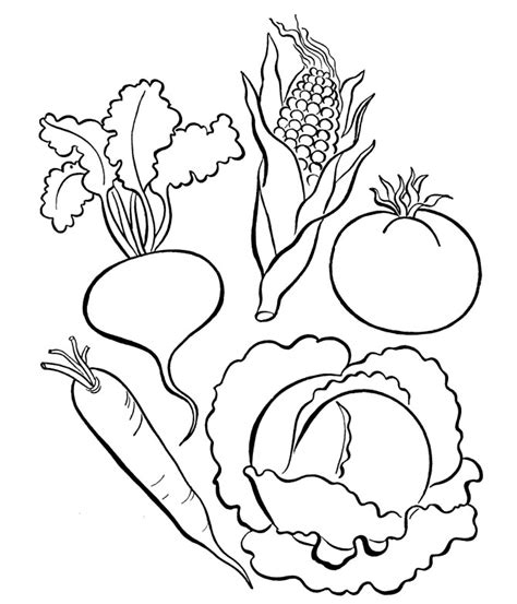 Pictures Of Vegetables To Color Az Coloring Pages