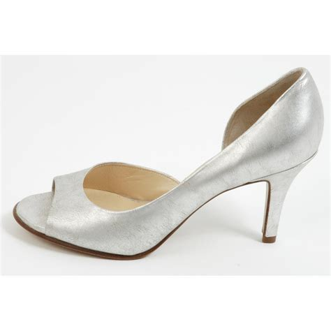 Silver Shoes by Kaiser Saffa Silver Evening Shoes New Season In Stock