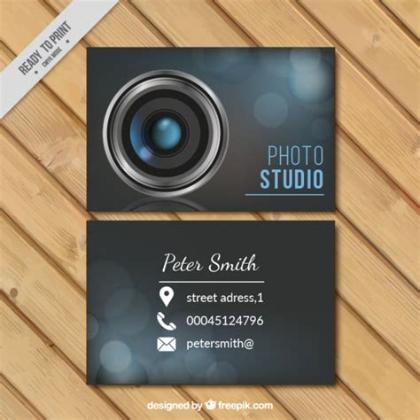 business card studio photo studio business card vector free