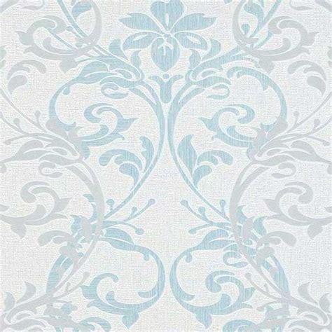 papel pintado para salon blanco papel pintado vintage damasco blanco azul y gris