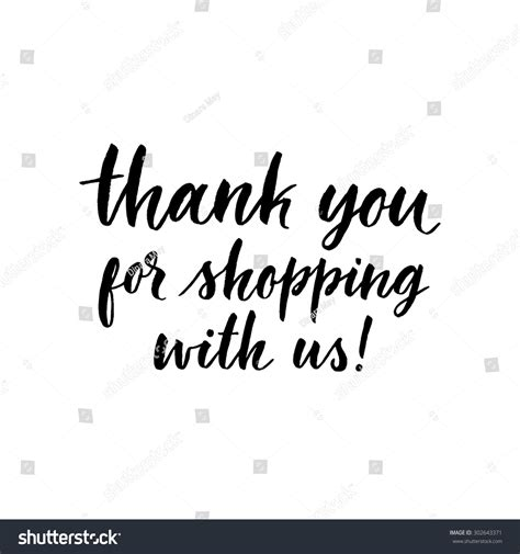 thank you for shopping with us template thank you shopping us ink stock vector 302643371