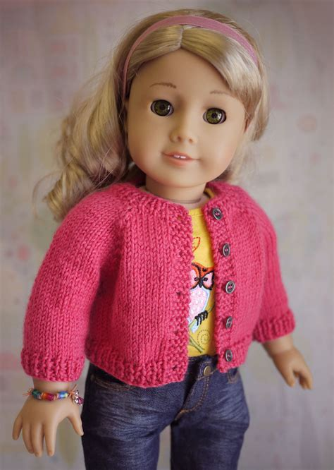 doll cardigan knitting pattern american doll cardigan sweater knitting pattern