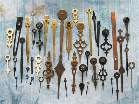 part of an old clock now a piece of art hmm vintage antique clock hand parts 95 piece lot industrial metal