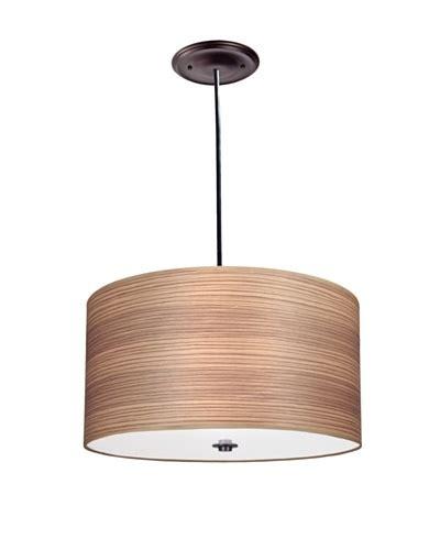 Wood Veneer Pendant Light Lite Tops Wood Veneer Drum Pendant Light Rubbed Bronze Ownmodern