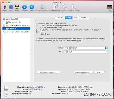 format flash disk mac how to format a usb flash drive on mac technary