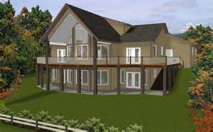 hillside home plans colonial style hillside home plans with view