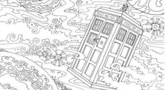 doctor who coloring book doctor who coloring book geektak