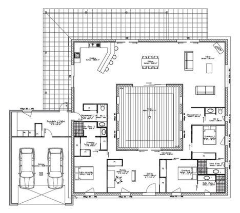 maison avec patio central maison maison pro eco 174 patio lafarge faire construire