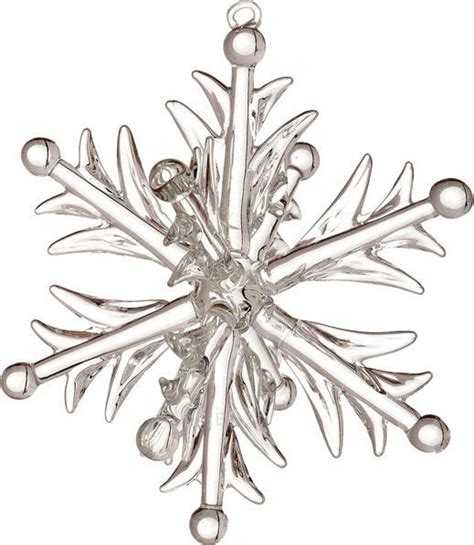 heirloom glass snowflake ornament 3d design 14 95