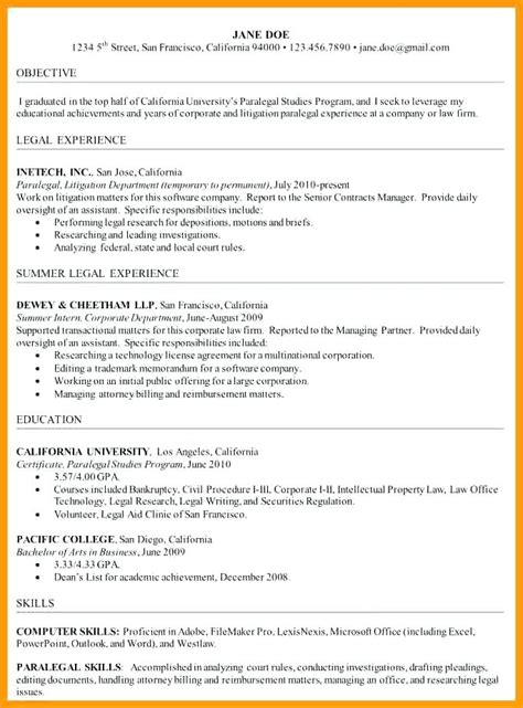 Resumes That Stand Out by 22 Basic Paralegal Resumes That Stand Out Nadine Resume
