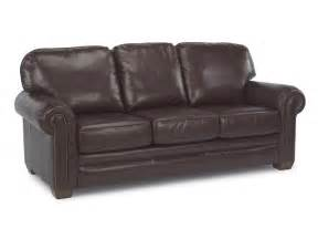 Flexsteel Leather Sofa Flexsteel Living Room Leather Sofa With Nailhead Trim 3270 31 S Furniture San