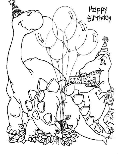 happy birthday dinosaur coloring page poster happy birthday dinasour gambar mewarna