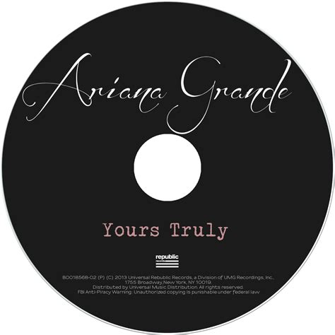 Grande Yours Truly Cd lilbadboy0 album cover grande yours truly packaging