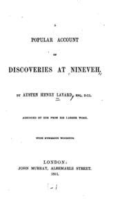 popular account of discoveries at nineveh classic reprint books a popular account of discoveries at nineveh layard
