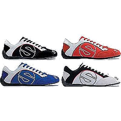 sparco esse suede canvas shoe pair rally lights